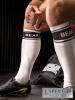 BARCODE Socken weiss/schwarz: BEAR
