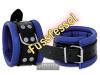 Leder-Fussfessel, blau - 6,5cm