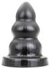 All Black TRIPLE ANAL PLUG XL 20x10cm