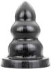 All Black TRIPLE ANAL PLUG XXXL 28x15cm
