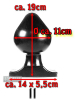 All Black Power-Plug EDGAR 19x11cm
