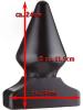 All Black Power-Plug GAY DEVIL 24x11,5cm