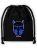 Big-Bag Turnbeutel Puppy Maske blau