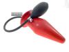 Blow-Up Butt Plug Größe L - rot + Schaumkern