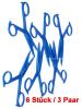 Brustwarzen-Zangen, spitz 3 Paar