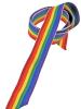 Gay Pride Regenbogen Stoffband Geschenkband - schmal