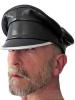 Leder-Kappe SPEXTER CLASSIC-CAP silber