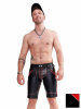 Mister B Leather FXXXer Shorts - rote Paspel