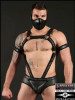 Mister S Neoprene Crossbow Body Harness - schwarz