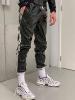 Riegillio Wet Look Lack Tracksuit Pants
