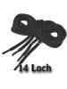 Schnürsenkel für 14 Loch - Boots bzw. Stiefel SCHWARZ