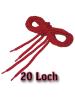 Schnürsenkel für20 Loch - Boots bzw. Stiefel ROT