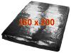 Orgy Lack-Spannbettlaken - schwarz 160x200cm
