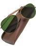 Sonnenbrille grüne Gläser mit Etui