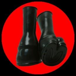 Ponyhufe aus Latex - schwarz