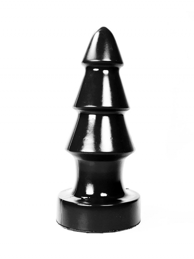 Ultra großer 3-Stufen Plug - 57x18cm - schwarz