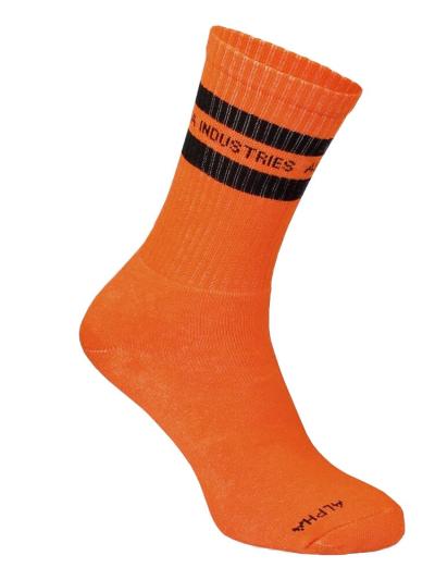 Alpha Industrie STRIPE SOX - orange