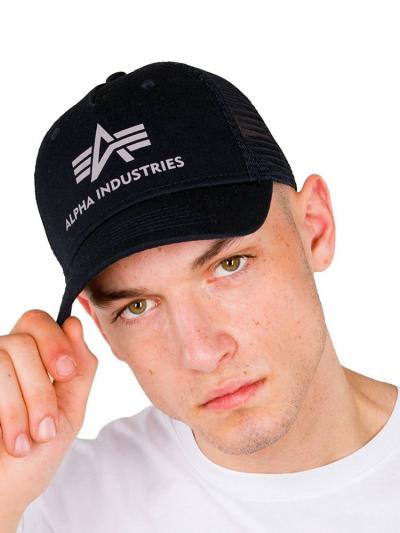 Alpha Industries Basic Trucker Cap - schwarz