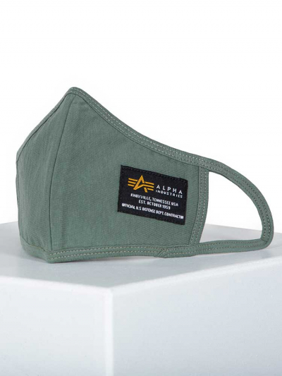 Alpha Industries Crew Facemask oliv