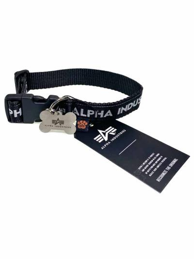 Alpha Industries DOG TAG COLLAR schwarz-grau