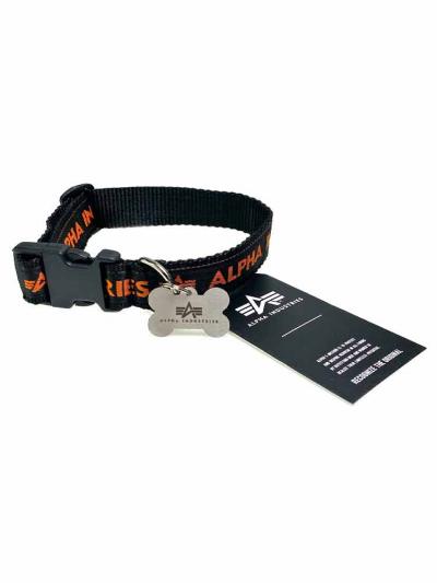 Alpha Industries DOG TAG COLLAR schwarz-orange