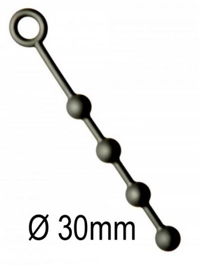 Analkugeln - Anal-Balls - Silikon -S- 4x30mm schwarz