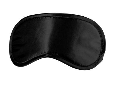 Augenbinde Schlafmaske - einfach, schwarz