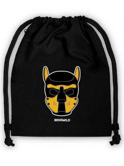 Big-Bag Turnbeutel Puppy Maske gelb