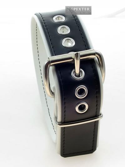 Bizeps-Band Oberarmband mit Schließe - weiße Paspel