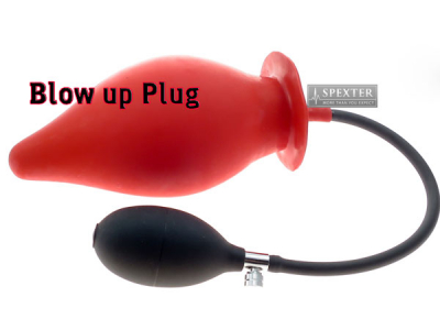 Blow-Up Butt Plug Größe L - rot