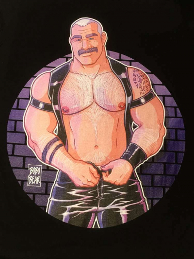 BOBO BEAR T-Shirt - Leather Muscle Daddy