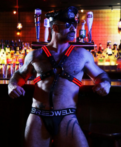 BREEDWELL Brust-Harness Cross-Bow LED ROT