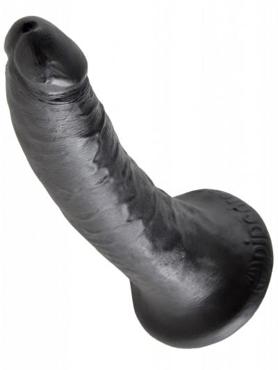 Dildo KING COCK 7 inch - 17.8x4.1cm - schwarz