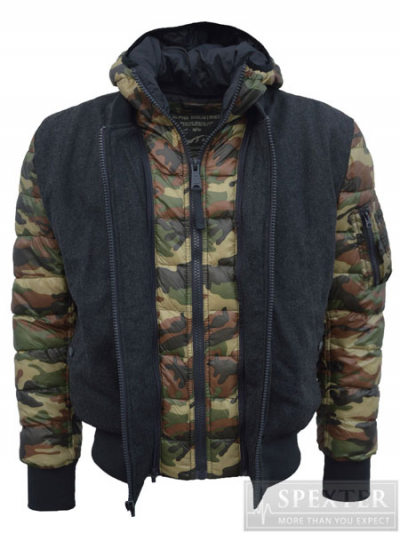 Alpha Industries EXPEDITION - woodland-camouflage
