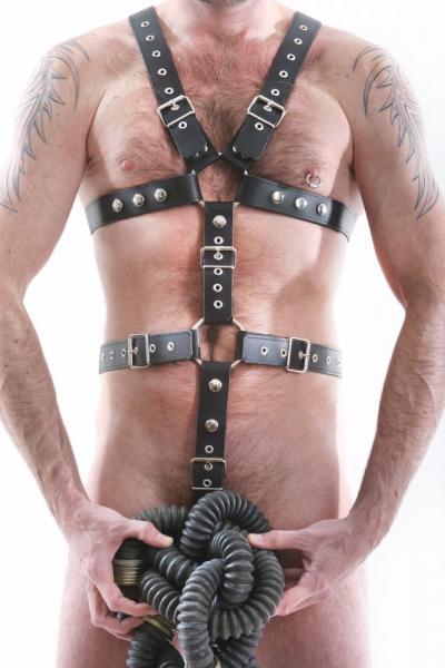 Ganzkörper-Harness - 3.5cm Gürtelleder