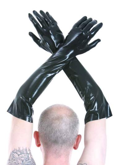 Gummi-Handschuhe bis Ellenbogen 60 cm dünn