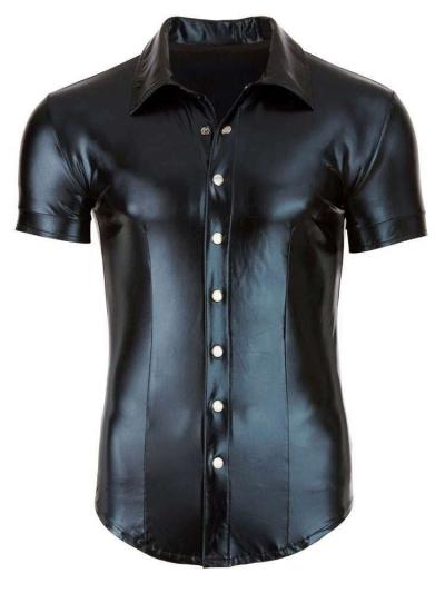 Herren-Hemd Wetlook - schwarz