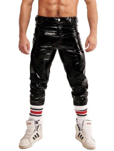 Riegillio Wet Look Lack Hose Jeansschnitt