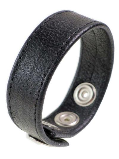Leder-Cockring schwarz 20mm Breite