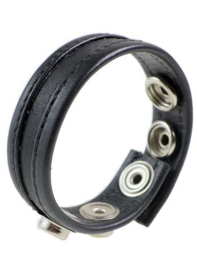 Leder-Cockring schwarzer Streifen