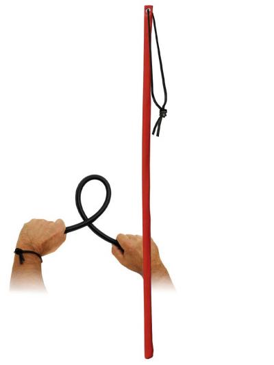 Lederrohrstock rot flexibel 60cm