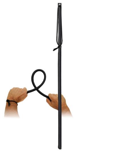 Lederrohrstock schwarz flexibel 60cm