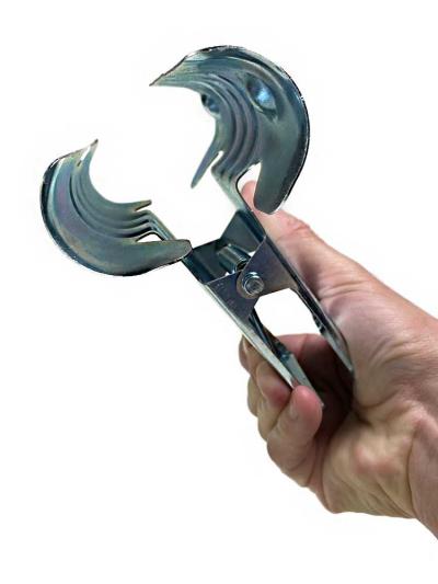Metallklammer Zange gross