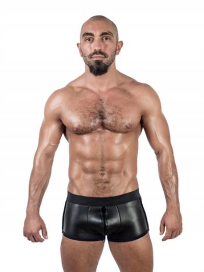 Mister B Neopren Shorts Full Zip schwarz