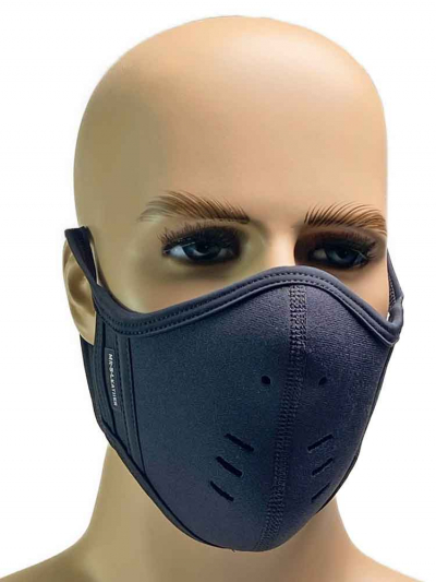 Mister S Neopren Face Mask schwarz-schwarz