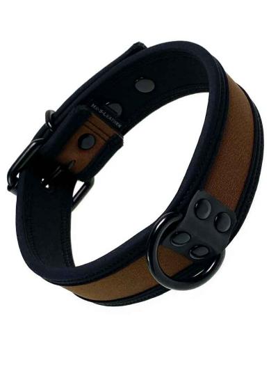 Mister S Neopren Puppy Halsband - braun/schwarz