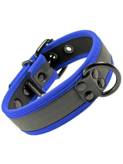 Mister S Neopren Puppy Halsband - schwarz/blau