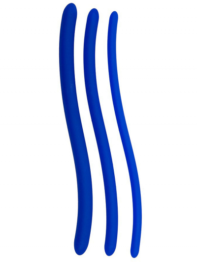 Silikon Dilatoren 3er Set - blau