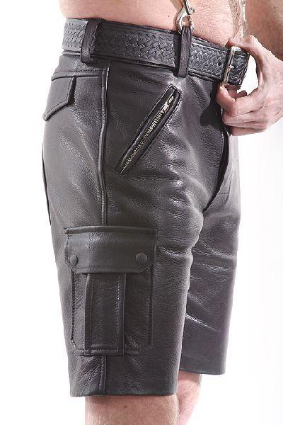 Spexter Lederhose ARMY-Style - kurz