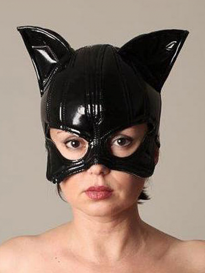 Tatjana Warnecke CAT Mask schwarz/glänzend